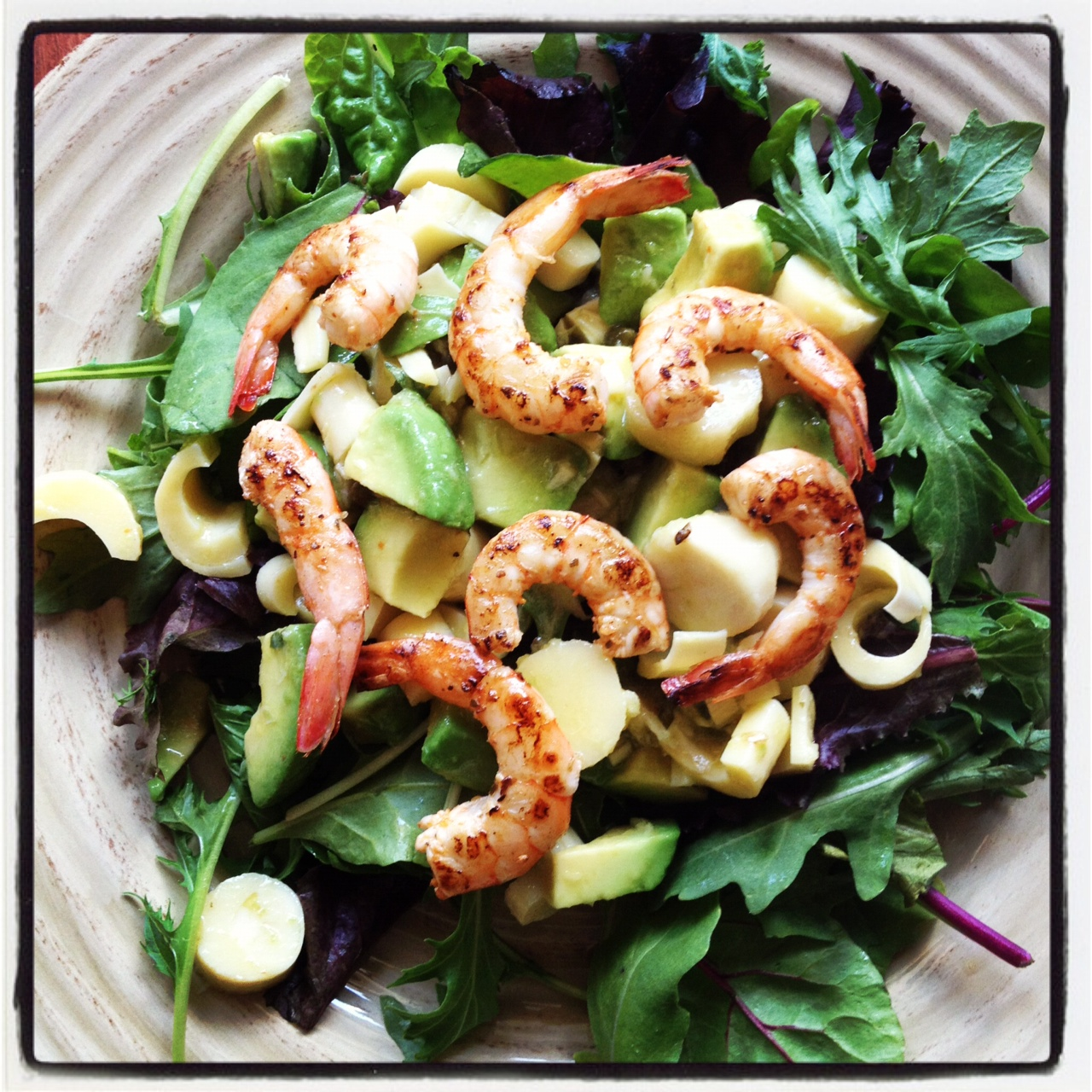 Hearts of Palm Salad with Shrimp & Avocado | Happiness ...